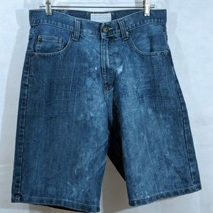 Mens Denim Shorts 32 Distressed Alexander Julian